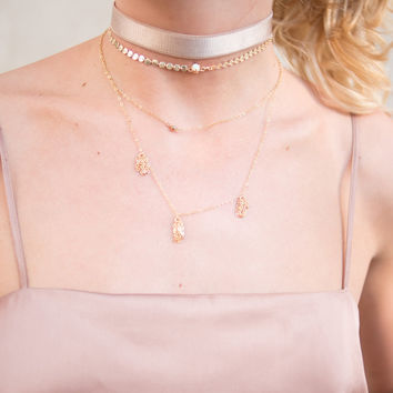 Blush Satin Stretch Choker