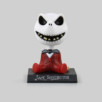 The Nightmare Before Christmas Jack Cute Jack Skellington PVC Action Figure Collectible Model Toy  Car doll toys