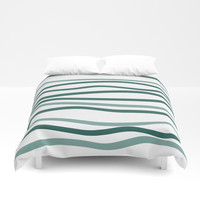 sea is blue Duvet Cover by Ia Po