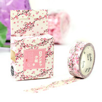 Cherry Blossom Decorative Washi Tape DIY Scrapbooking Masking Tape School Office Supply Escolar Papelaria