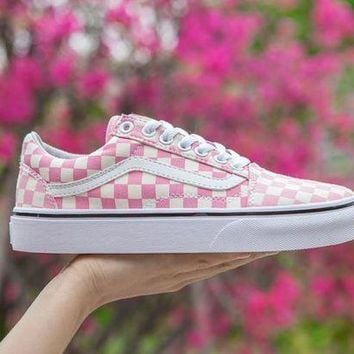 PEAPU3S Vans Old Skool Pink FS073 Sneaker Casual Shoes