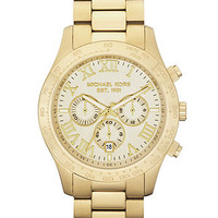 Michael Kors Watch, Men's Chronograph Layton Gold-Tone Stainless Steel Bracelet 45mm MK8214 - Men's Watches - Jewelry & Watches - Macy's