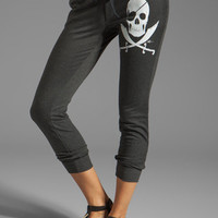 291 Pirate Skull Fitted Track Pant in Vintage Black from REVOLVEclothing.com