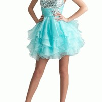 Gorgeous Bridal Women's Short Sweetheart Organza Party Dress