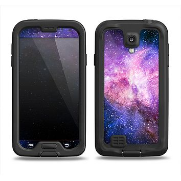 The Vibrant Purple and Blue Nebula Samsung Galaxy S4 LifeProof Nuud Case Skin Set