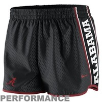 Nike Alabama Crimson Tide Womens Chainmaille Pacer Performance Shorts - Black