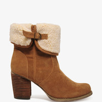 Faux Shearling Cuffed Boots