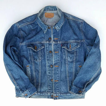 Levi's Jean Jacket Size Large, Levi's Jacket Made In USA Size 44, Fall 2016 Street Fashion Coat