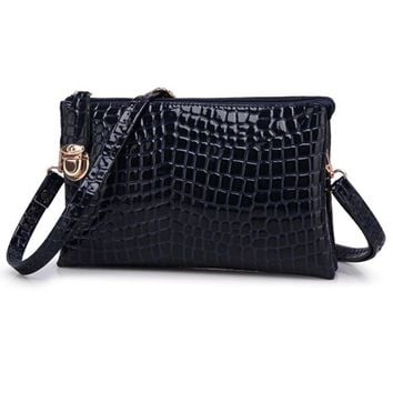 Alligator Faux Leather Shoulder Bag Purse Handbags
