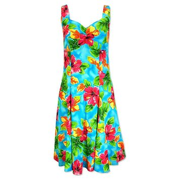 hoopla blue hawaiian molokini short dress