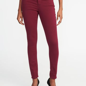 Mid-Rise Pop-Color Rockstar Super Skinny Jeans for Women|old-navy