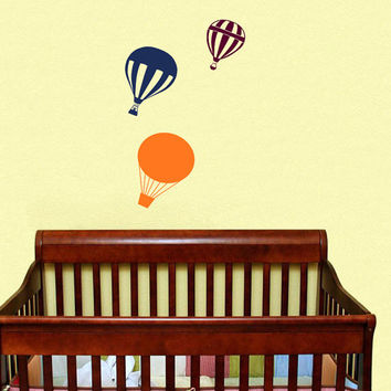 Housewares Hot air Balloons Wall Vinyl Decal Sticker Kids Nursery Baby Room Decor V295