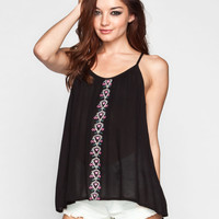 PATRONS OF PEACE Embroidered Womens Cami 238587100 | Tanks & Camis