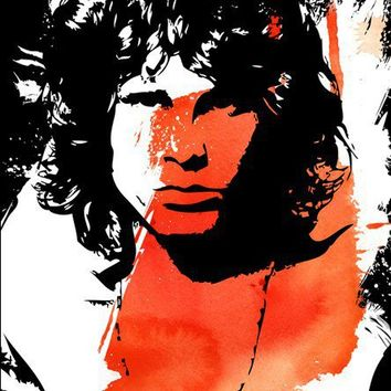 JIM MORRISON Rock n Roll Pop Art style by mediagraffitistudio