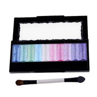 10 Colors Baked Eyeshadow Palette Glitter Shimmer Makeup Cosmetics Eye Shadow Pigment Set
