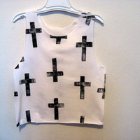 Cross crop shirt