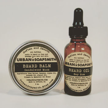 Beard Set - Beard Balm and Beard Oil - Beard Conditioner - Beard Care
