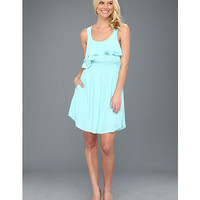 BCBGeneration Tiered Bodice Dress VYW6V182 Aqua Foam - Zappos.com Free Shipping BOTH Ways