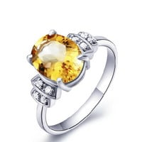 2.6ct Citrine silver ring