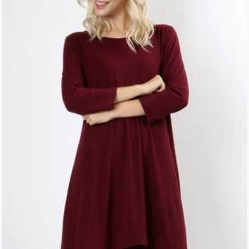 Heather Handkerchief Hem Tunic Dress- 7 Colors!