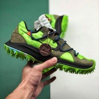 """Off-White x Nike Zoom Terra Kiger 5 """"Athlete In Progress"""" Fashion Casual Sneakers Sport Shoes"""