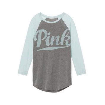 Victoria Secret Love PINK 0-Neck Long Sleeves Women Sweatshirt
