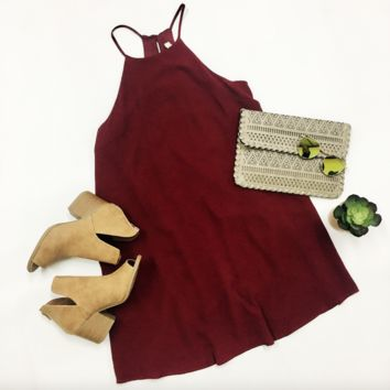 Gameday Ready Dress - Crimson