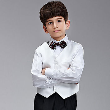 Five Pieces Ring Bearer Suit Clothing Set With Random Tie(More Colors)