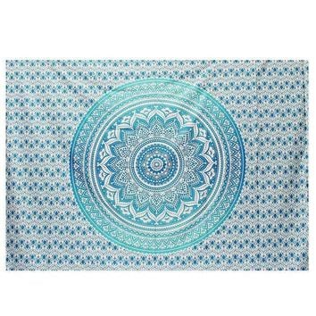 ESBU3C New Indian Tapestry Wall Hanging Mandala Throw Gypsy Cover Bohemian Dorm Deco Picnic Throw Towel Yoga Mat Blanket