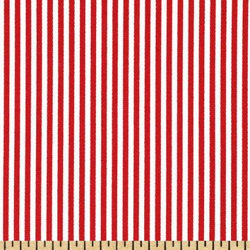 fabric cotton red line stripes red and whites 53 inches long