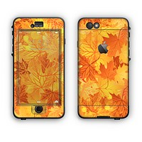 The Abstract Fall Leaves Apple iPhone 6 Plus LifeProof Nuud Case Skin Set