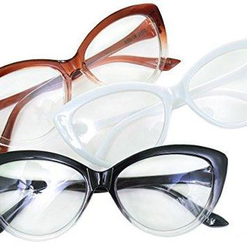 Steve Madden Cat Eye Reading Glasses 3 Pack +1.50 Readers
