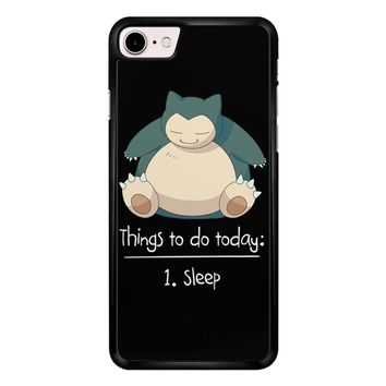 Things To Do Today Sleep Pokemon Snorlax iPhone 7 Case