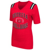 ONETOW NCAA Georgia Bulldogs Artistic Red T Shirt