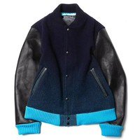 Hybrid Leather Varsity Jacket by Minotaur