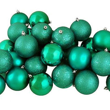 "32 Christmas Ball Ornaments 3.25 ""  - Seafoam Green"
