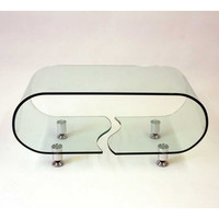 J&M Furniture Modern Coffee Table A090B in Glass