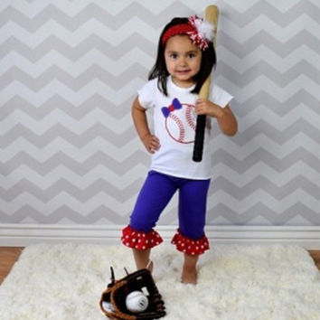 Baseball Outfit, Cheerleader, Baby and Girl Sizes! 2 Piece Set! ALMOST SOLD OUT!