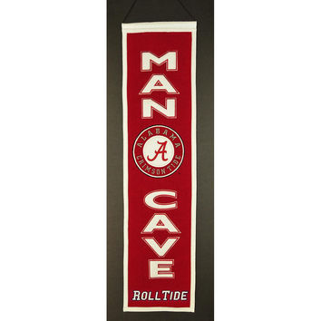 Alabama Crimson Tide NCAA Man Cave Vertical Banner (8 x 32)