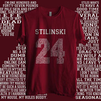24 Stilinski Quote White ink Beacon hills lacrosse teen wolf Men Tee Tshirt