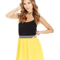 Material Girl Juniors' Striped-Waistband Pleated Skirt | macys.com