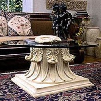 Classical Capital Interior Design Cocktail Table Base 17.75H Home Decor
