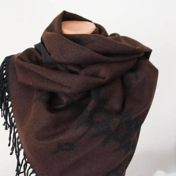 EXPRESS SHIPPING ! Blanket Scarf Large Scarf Aztec Scarf Shawl Boho Scarf Bohemian Fall Winter Scarf Fashion Accessories Christmas Gift