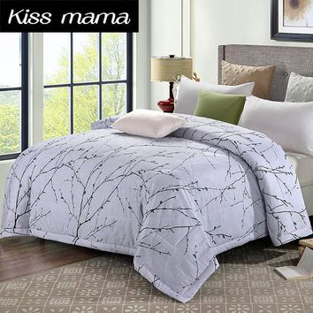 100% Cotton fabric Quilting Quilts Queen Twin,Summer Quilt/Comforter/Duvet/Blanket Throws On Sofa/Bed/Plane Travel  Bedding Gray