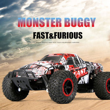 RC Cars 1:16 Climbing Buggy 4WD Monster Truck Bigfoot Remote Control Off-Road Vehicles Radio-controlled Car Top Toys For Boys