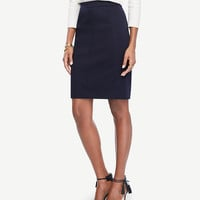 Cotton Sateen Pencil Skirt | Ann Taylor
