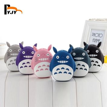 BYJY NEWS A09 Portable Cute TOTORO 12000mAh Power Bank 18650 Cartoon Charger USB External Battery Backup For Android IOS iPhone