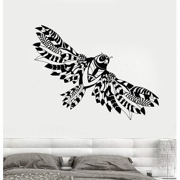 Vinyl Wall Decal Abstract Flying Owl Wings Bird Stickers Unique Gift (1833ig)