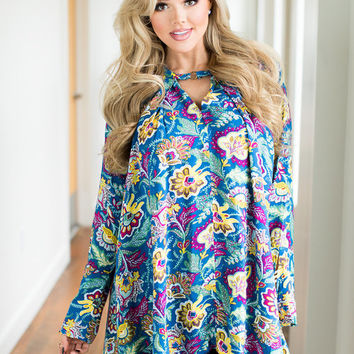 You're So Beautiful Multi Paisley Long Sleeve Dress