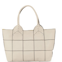 Summer Studded-Detail Tote Bag, Stone - Oryany